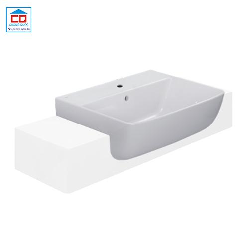 Chậu lavabo bán âm bàn Inax AL-345V(EC/FC) cao cấp
