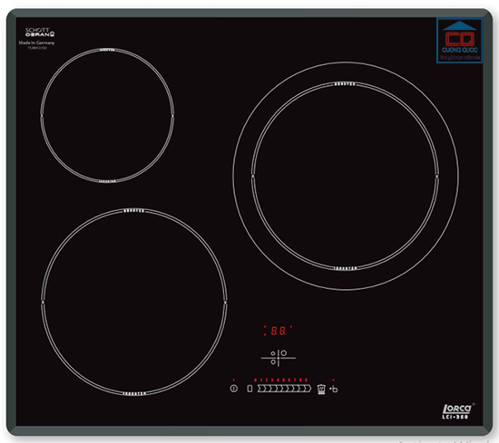 Bếp từ âm Lorca LCI-360 ba vùng nấu