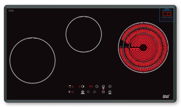 Bếp điện từ Lorca LCE-307 ba vùng nấu cao cấp