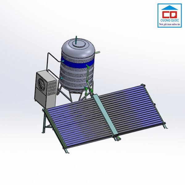 Thái dương năng Sơn Hà giàn công nghiệp 40 ống 500 lít