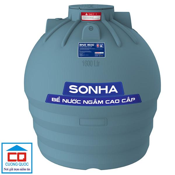 Bể chứa nước ngầm Sơn Hà 1600 lít cao cấp