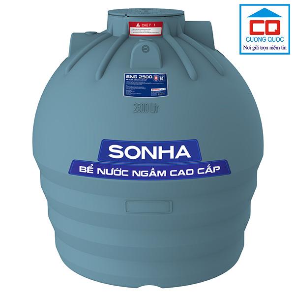 Bể chứa nước ngầm Sơn Hà cao cấp 2500 lít