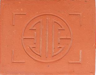 Ngói chiếu chữ thọ màu đỏ Thạch Bàn NCCT 05 cao cấp