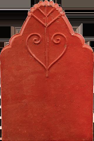 Ngói hài ri 2 vai Thạch Bàn HR2V-05 ngói đỏ đẹp