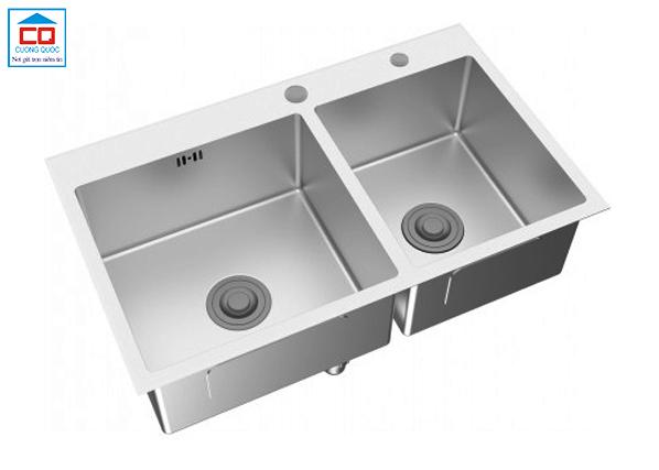 Chậu bếp inox Viglacera Platinum P.63.350