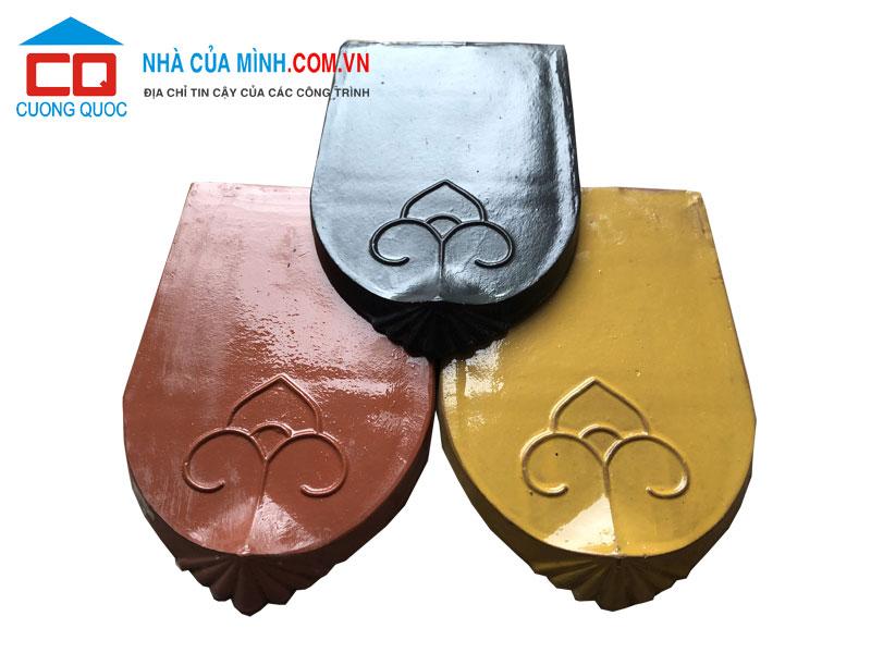 Ngói mũi hài cổ Bát Tràng tráng men các màu giá rẻ