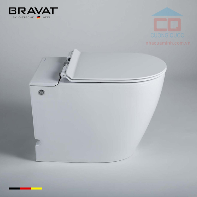 Bồn cầu đặt sàn nhập khẩu Bravat C21232UW-3-ENG