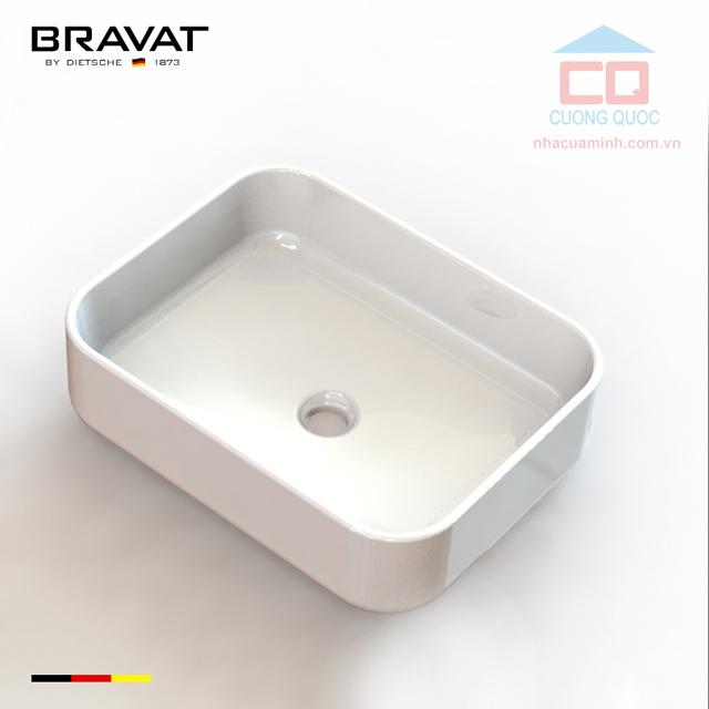 Chậu rửa mặt lavabo đặt bàn cao cấp Bravat C22250W-ENG