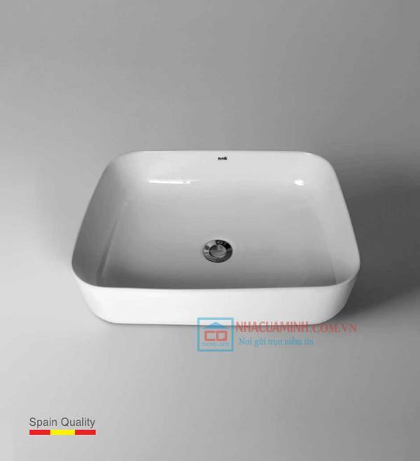 Chậu rửa lavabo sứ cao cấp Bello BB - 800399