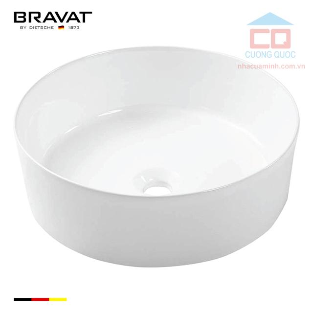 Chậu rửa lavabo đặt bàn cao cấp Bravat C22284W-ENG