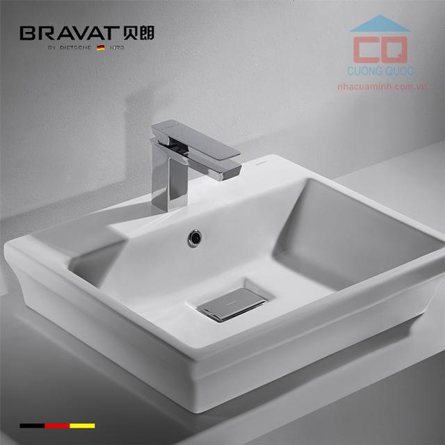 Chậu rửa mặt đặt bàn Bravat C22192W-1-ENG