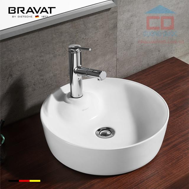 Chậu lavabao đặt bàn nhập khẩu Bravat C22239W-1-ENG