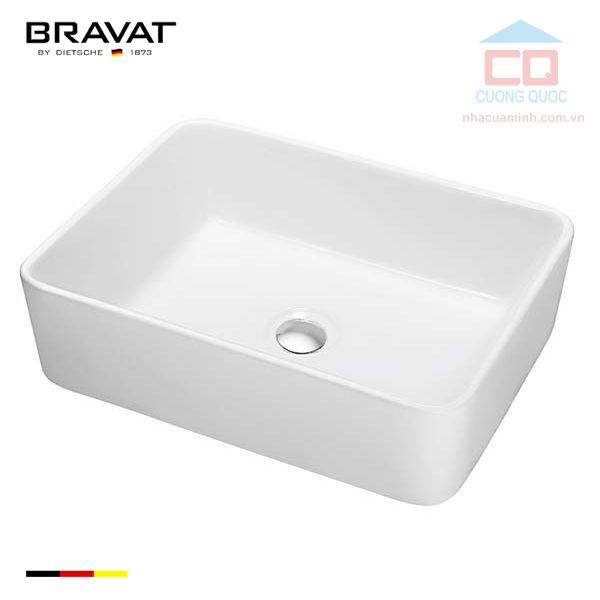 Chậu lavabo đặt bàn cao cấp Bravat C22328W-ENG