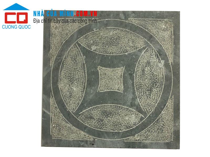 Đá hình đồng tiền cổ màu xanh 40x40 VLCQ192 giá rẻ