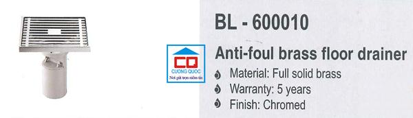 Ga thoát sàn nhập khẩu Bello BL - 600010