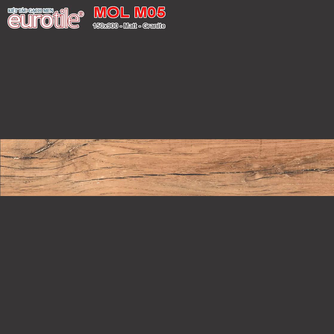 Gạch lát nền vân gỗ 150x900 Eurotile MOL M05 giá rẻ