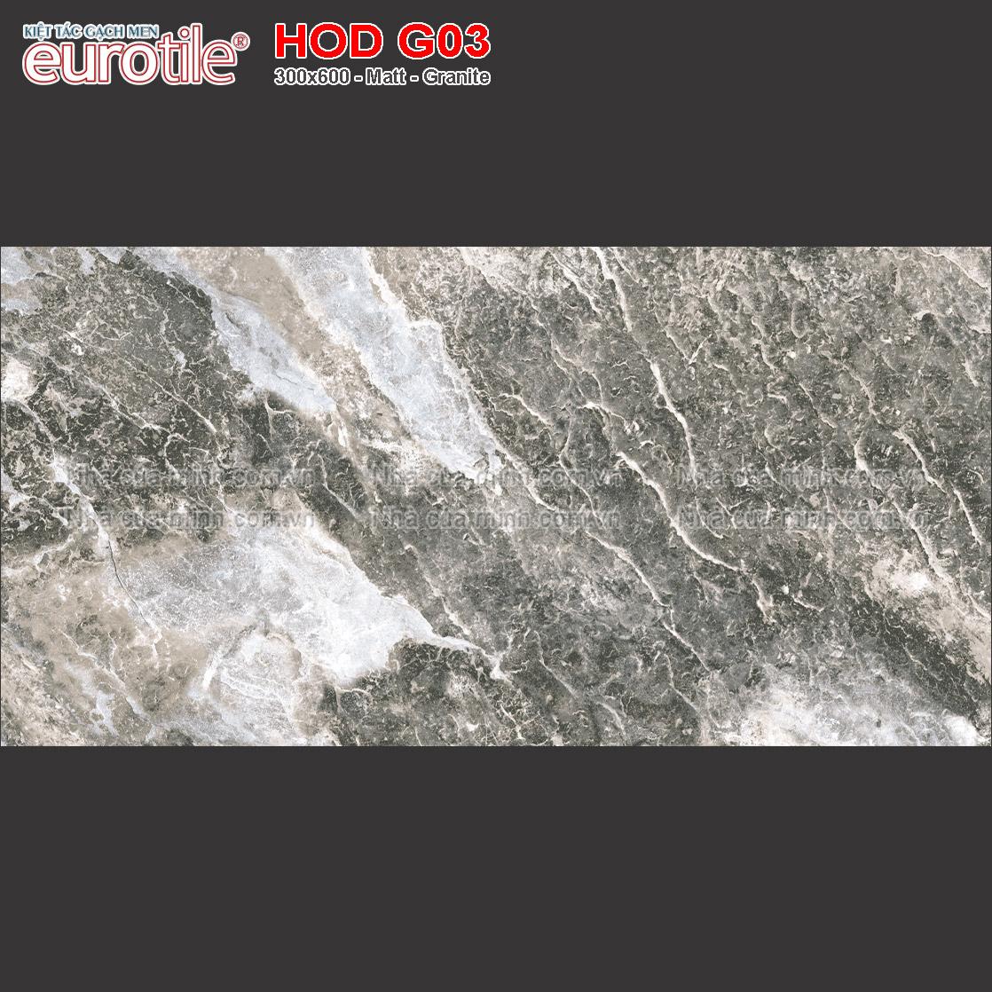 Gạch ốp lát 300x600 Eurotile Hoa Đá HOD G03 giá rẻ