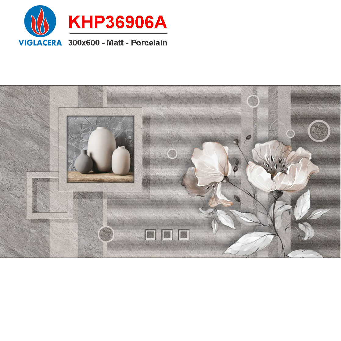 Gạch điểm 300x600 Viglacera KHP36906A giá rẻ