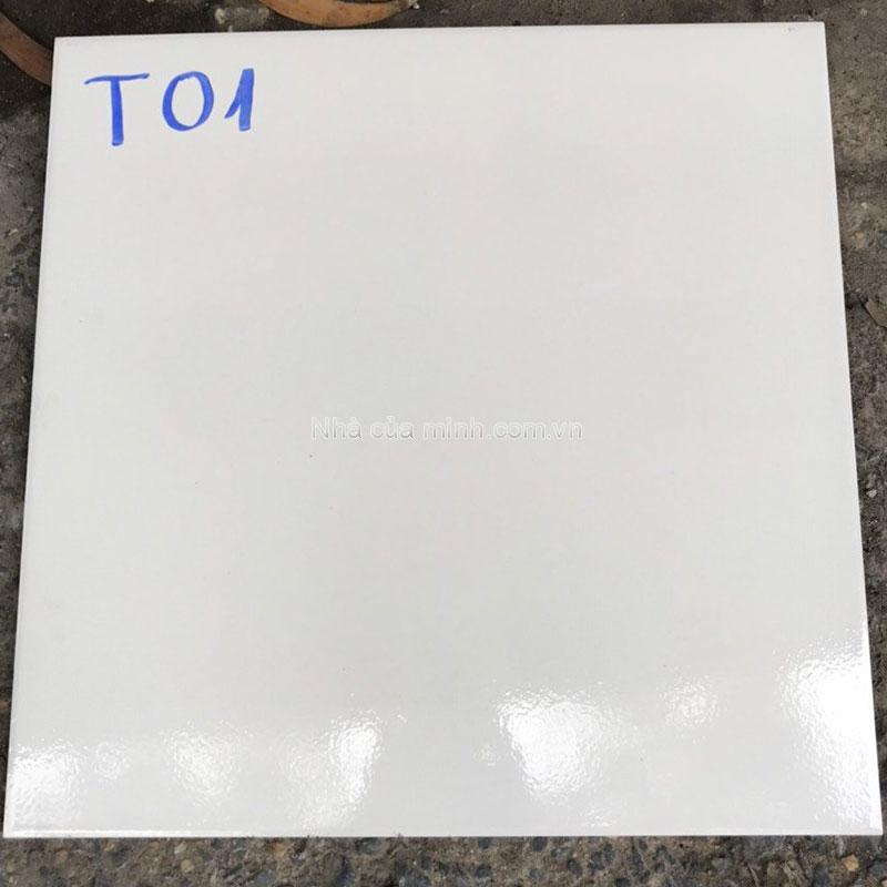 Gạch lát trắng trơn 400x400 Viglacera T01A giá rẻ