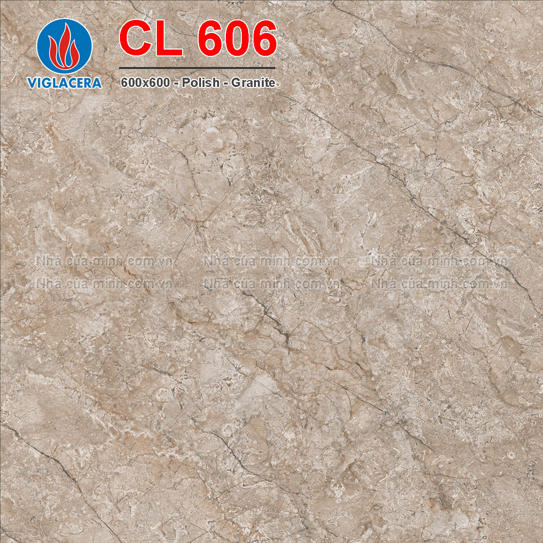 Gạch lát nền 600x600 Viglacera CL 606 giá rẻ