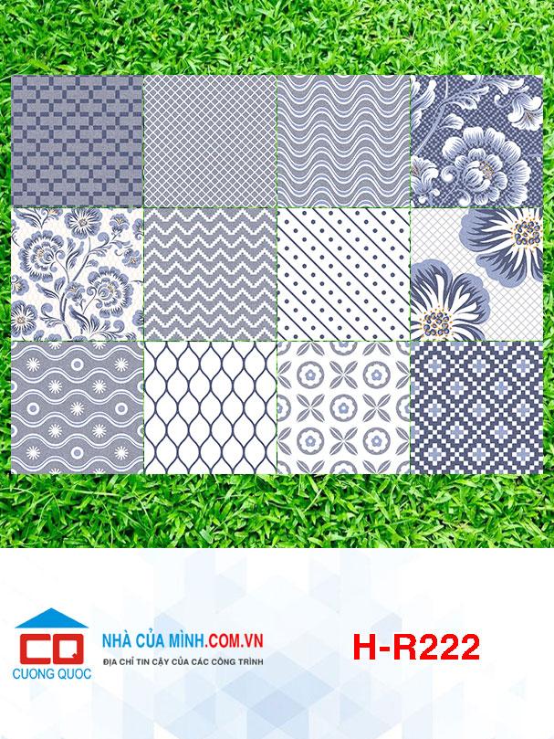 Bộ gạch bông 12 màu Viglacera H-R222 giá rẻ