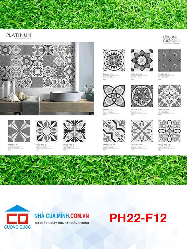 Gạch bông 12 mùa hoa Viglacera Platium PH22-F12 giá rẻ