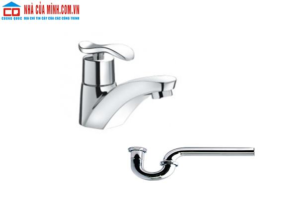Vòi chậu lavabo + Ống thải Inax LFV-11AP