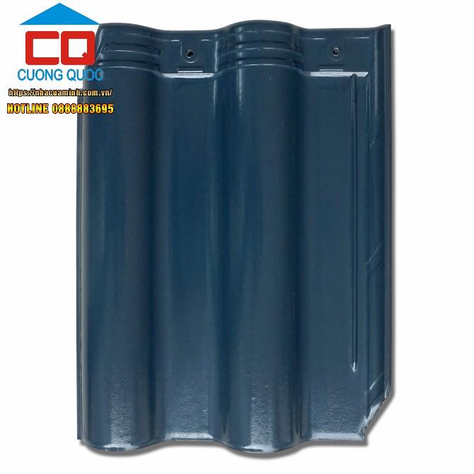 Ngói sóng vát góc màu xanh Viglacera R 06 ngói tráng men