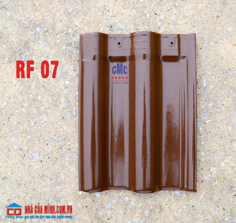 Ngói gốm sứ tráng men màu chocolate CMC RF 07 cao cấp