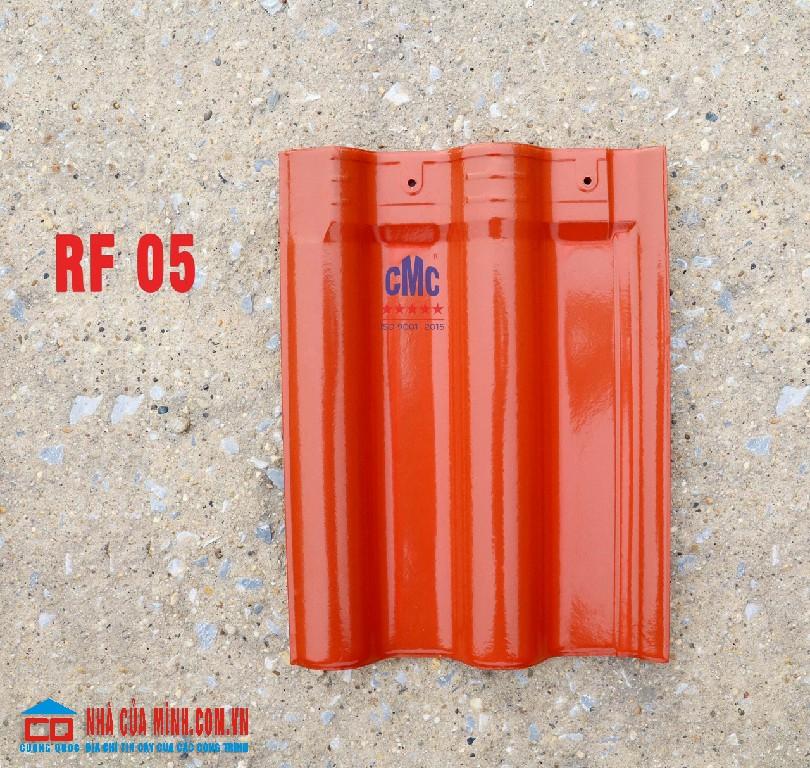 Ngói gốm hai sóng tráng men đỏ CMC RF 05 cao cấp