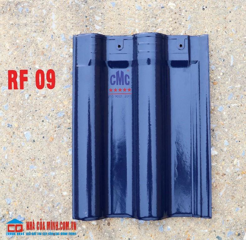 Ngói lợp mái nhà tráng men xanh tím than CMC RF 09 cao cấp