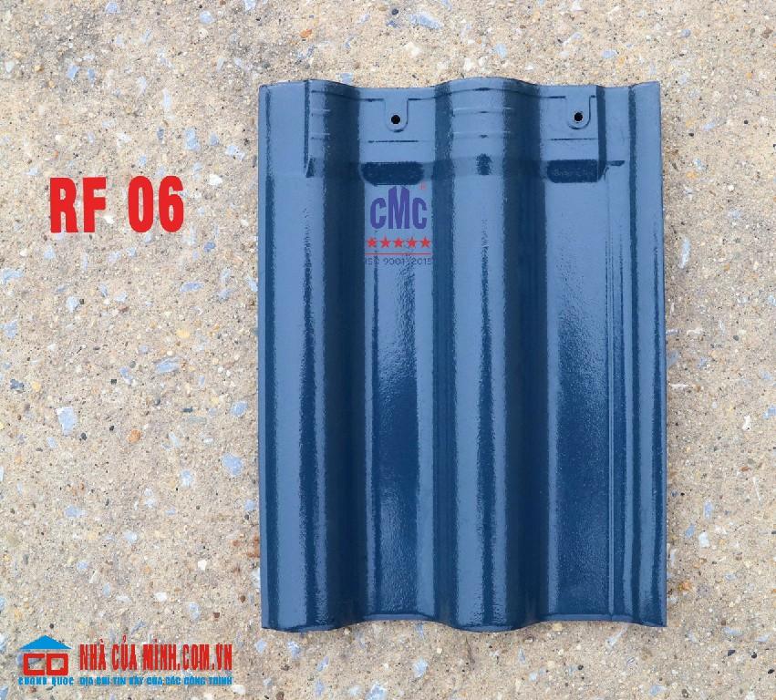 Ngói gốm tráng men xanh lam CMC RF 06 giá rẻ