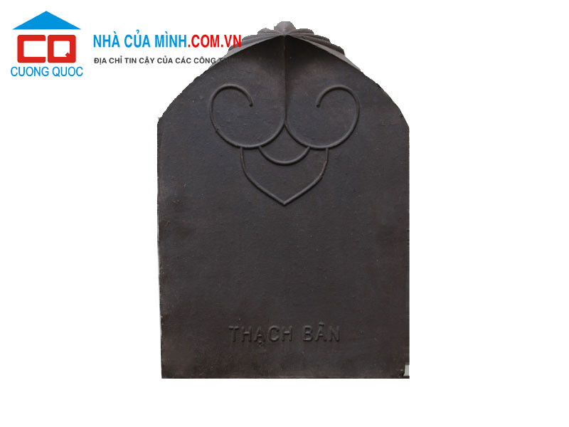 Ngói hài cổ Thạch Bàn màu đen MHC-04 cao cấp