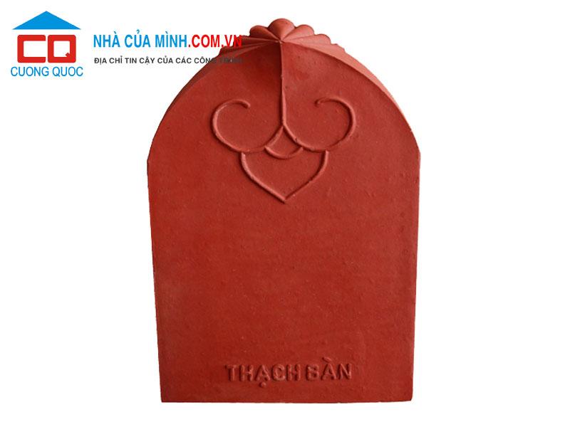 Ngói hài cổ Thạch Bàn màu đỏ MHC-05 giá ưu đãi