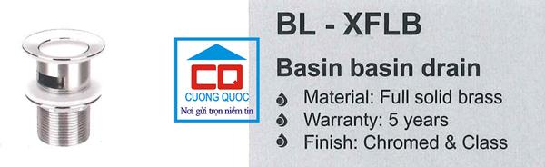 Nút nhấn xả chậu lavabo Bello BL- XFLB