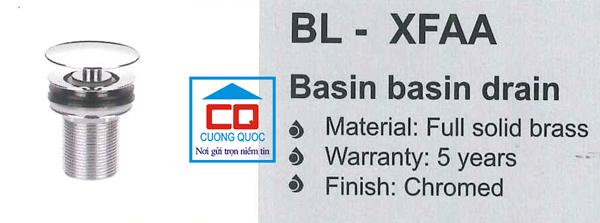 Nút nhấn syphong chậu nhập khẩu Bello BL - XFAA