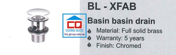 Nút nhấn xả chậu lavabo Bello BL - XFAB