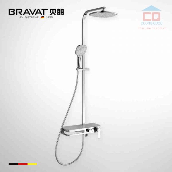 Sen cây tắm gắn tường cao cấp Bravat F6277312CP-A-ENG