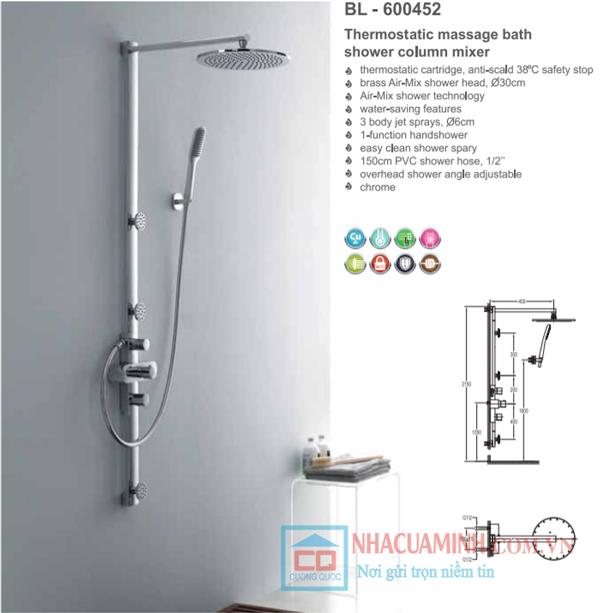 Sen cây tắm cao cấp Bello BL - 600452