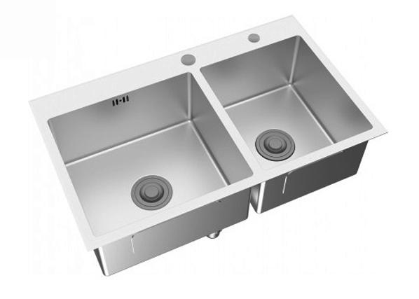 Chậu bếp inox Viglacera Platinum P.63.350 hai hộc chậu