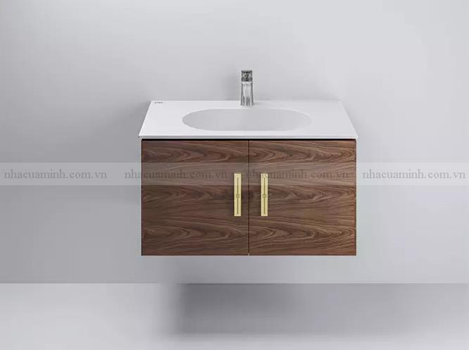 Bộ tủ chậu lavabo Viglacera Platinum P.69.690 treo tường