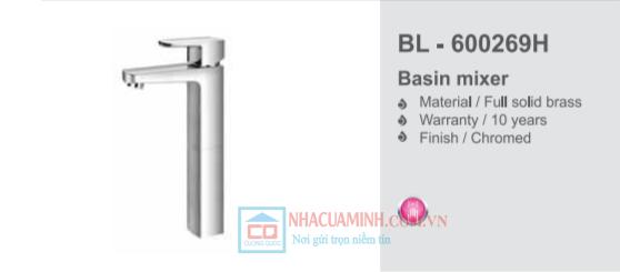 Vòi chậu rửa mặt lavabo cao Bello BL - 600269H