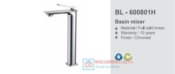 Vòi chậu rửa mặt lavabo cao Bello BL - 600801H
