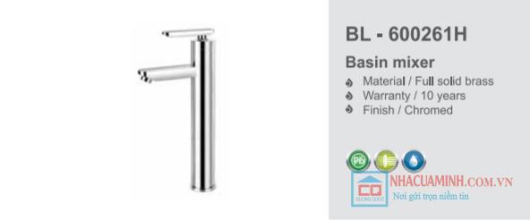 Vòi chậu rửa mặt lavabo cao BL - 600261H