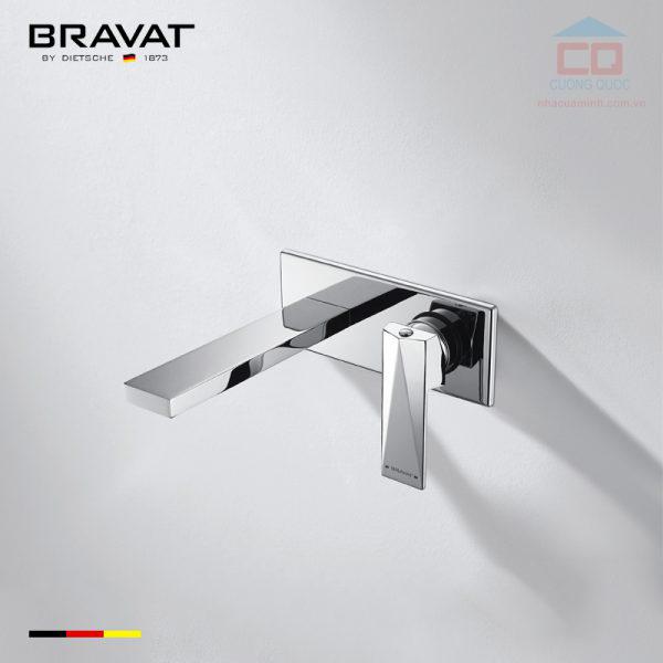Vòi chậu lavabo gắn tường cao cấp Bravat P69181C-ENG