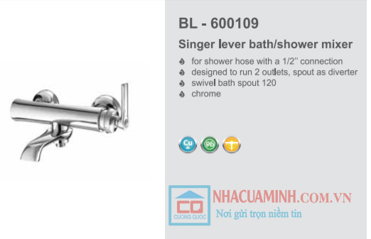 Vòi sen tắm cao cấp Bello BL - 600109